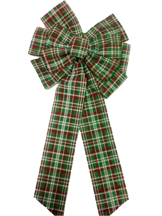 Green Tartan bow with 11 Image