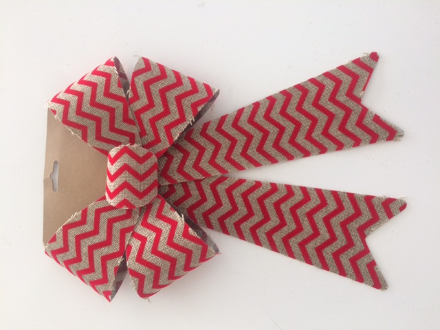 Wavy Striped 5 loop bow plastic backing Image