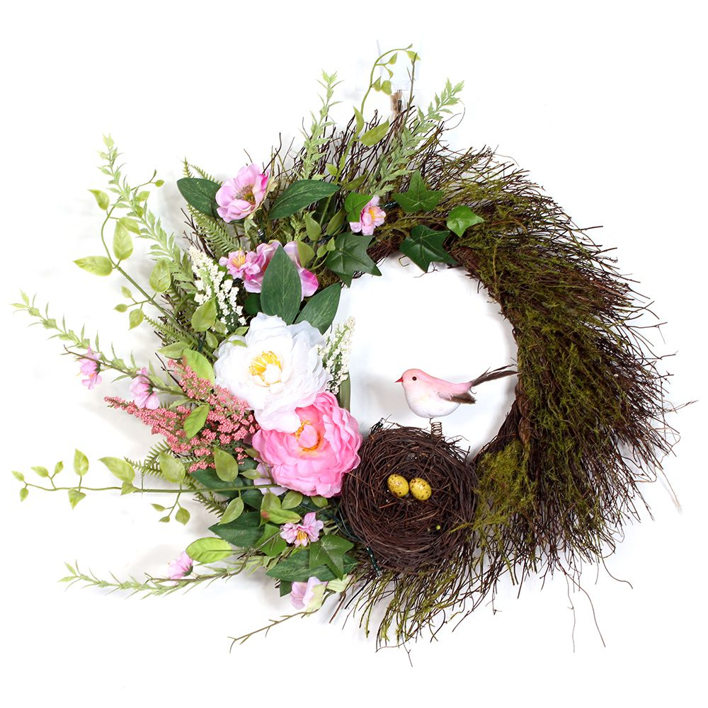 Pink/White Easter Wreath Image