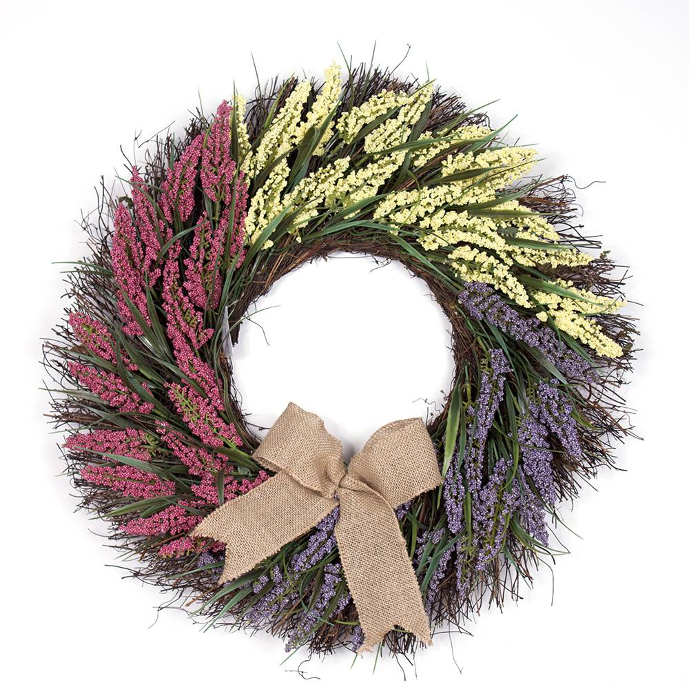 Red/Yellow/Purple Easter Wreath Image