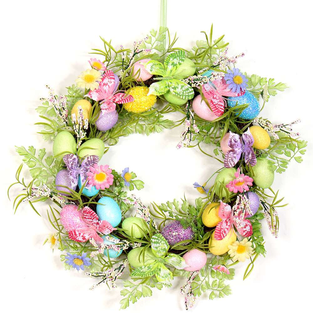 Watercolor Easter Wreath Image