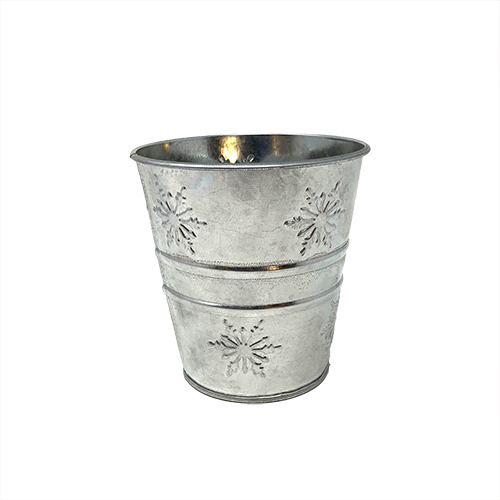Small Snowflake Tin Container Image