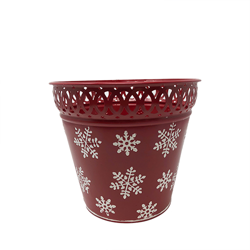 Trimmed Red Snowflake Container Image