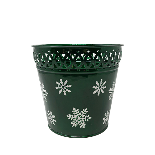 Trimmed Green Snowflake Container Image